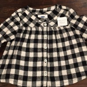 Plaid flannel swing tunic